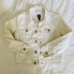 GapKids White Denim Jacket